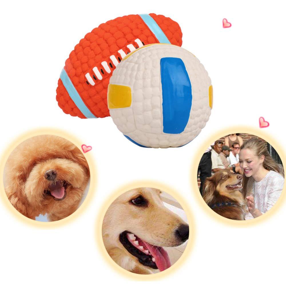 KDSANSO - Pelota de Goma para Perro, Bola de Entrenamiento para Perro, Resistente a los ácaros y Indestructible, Bola de Goma para Mascotas: Amazon.es: Productos para mascotas