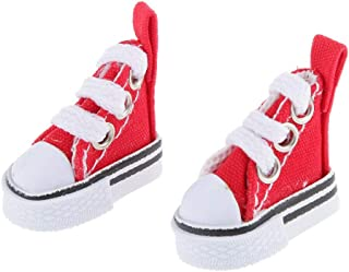ELECTROPRIME Red Casual Sneakers Canvas Shoes for 1/6 Blythe/Momoko/AZONE Dolls Clothes