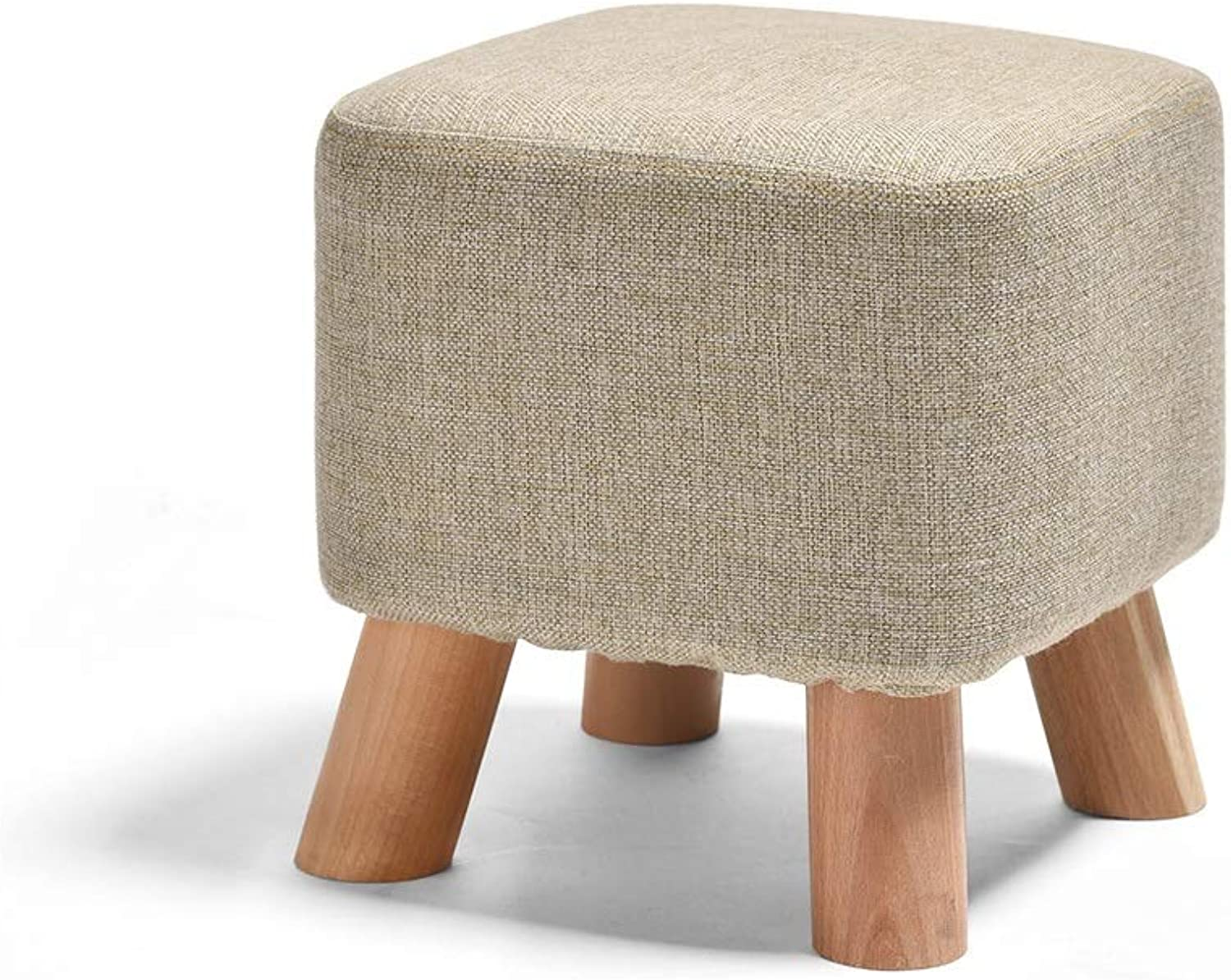 Sofa Stool, Wood Support Upholstered Footstools and Pouffes Fabric Chair 4 Legs Living Room Bench Milking Foot Stool (color   C)