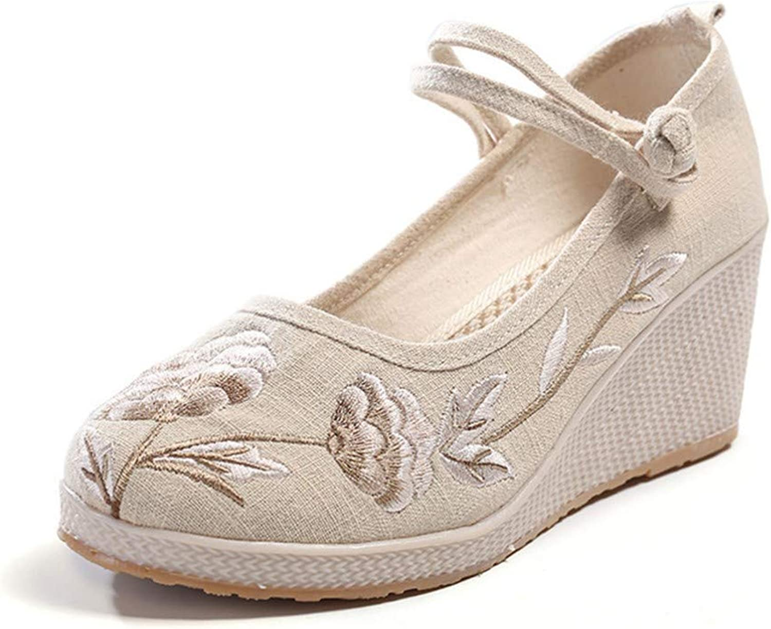 Cloth shoes, Embroidered shoes, Slopes, Heels, tendons, Soles, Women's shoes, Dancing shoes-YU&Xin