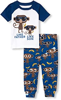 The Children's Place Baby Boys Novelty Printed Shorts Pajama Set