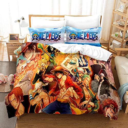 FAIEK Bedding 3 Pieces Duvets Covers Pillowcase Pirate collection Microfiber Bedding Comfortable Breathable Duvet Cover Set Fashion Home Bed Linings 200x200cm