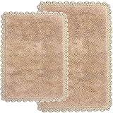 Chesapeake Merchandising Inc. Crochet 2Piezas Alfombra de baño Set, 21por 86,36cm y 17por 60cm, Lino