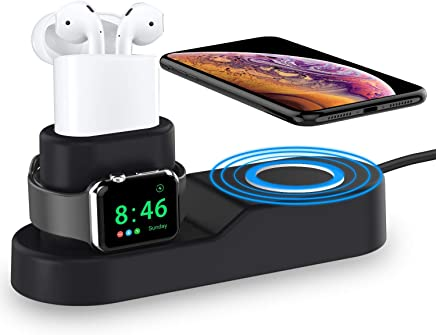 ROITON for Apple Watch iWatch Charger Stand, 4 in 1 Phone...