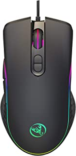Elikliv 4-level adjustable DPI RGB marquee gaming mouse Supports macro programming