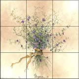 Ceramic Tile Mural - Thyme- by Carolyn Shores Wright