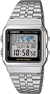 Casio Men's Digital Dial Stainless Steel Band Watch - A500WA-1
