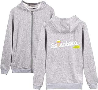 Unisex Seventeen Carta ImpresiÓN Abrigo con Capucha Ocasionales Deportiva Hoodie Sudaderas Outwear para Hombre y Mujer
