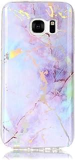 BoxTii Galaxy S7 Funda Suave TPU [Con Protector de Pantalla de Vidrio Templado] Diseño Único de Mármol Slim Fit Absorción de Golpes Carcasa Completa Protectora para Samsung Galaxy S7