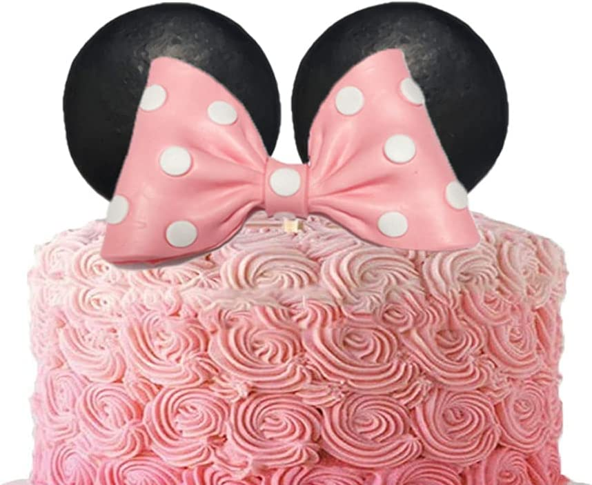 Minnie Mouse Cake Topper Pink Bow and Max 50% OFF Birthday Ears Seattle Mall for