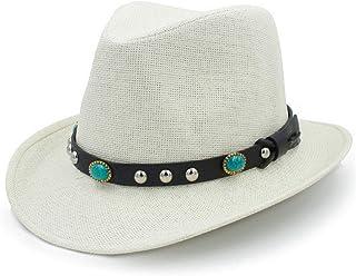 Mens Western Cowboy Hats Summer Beach Fashion Sombrero Sun Cap Unisex 4fa533c0c2d7