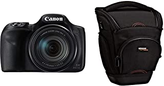 "Canon PowerShot SX540 HS - Cámara Digital de 20.3 MP (Pantalla de 3"" Zoom óptico de 50x NFC WiFi) Negro + AmazonBasics - Funda para cámara de Fotos réflex Color Negro"