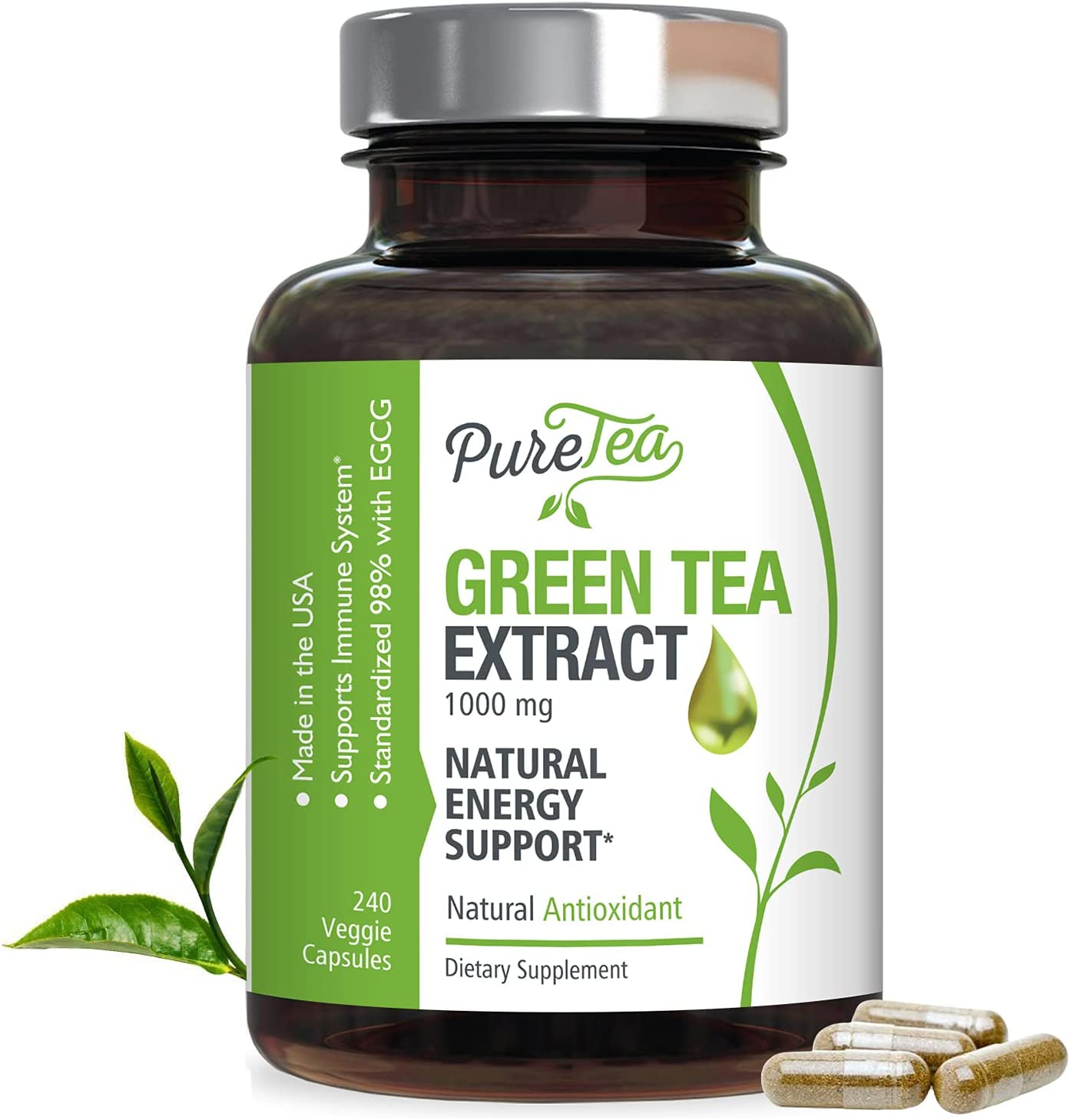 Green 2021 Tea Regular discount Extract 98% Standardized EGCG 1000m for Natural Energy