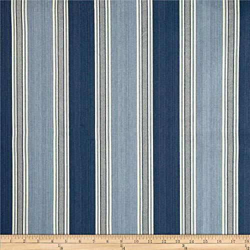 Waverly Spotswood Stripe Porcelain, Fabric by the Yard