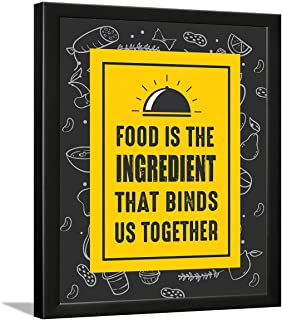 Chaka Chaundh - Framed Posters for kitchen - Kitchen quotes wall frames - Kitchen quotes frames ?? Restaurant - Hostel mes...