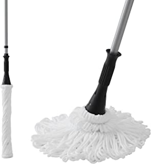"""Eyliden 57.5"""" Microfiber Twist Mop Hand-Free Washing Mop Floor Cleaning Dust Mops with Removable Washable Head Replacement"""