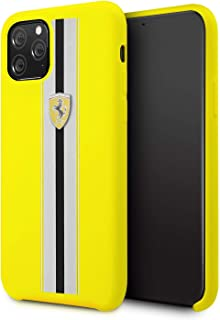 Ferrari Silicone Hard Case On Track For iPhone 11 Pro - Yellow