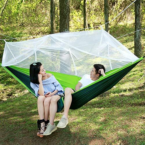 Balançoire de lit de hamac, balançoire Suspendue de lit de Tissu de Parachute de Force de hamac de Camping extérieur(Fruit Vert)