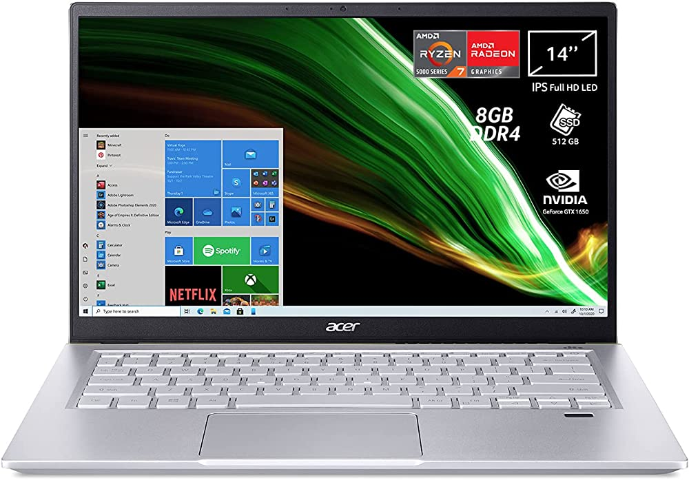 Acer pc portatile amd ryzen 7 nvidia geforce gtx 1650 4 gb ram 8 gb ddr4 512 gb pcie nvme ssd ?SFX14-41G-R5VA