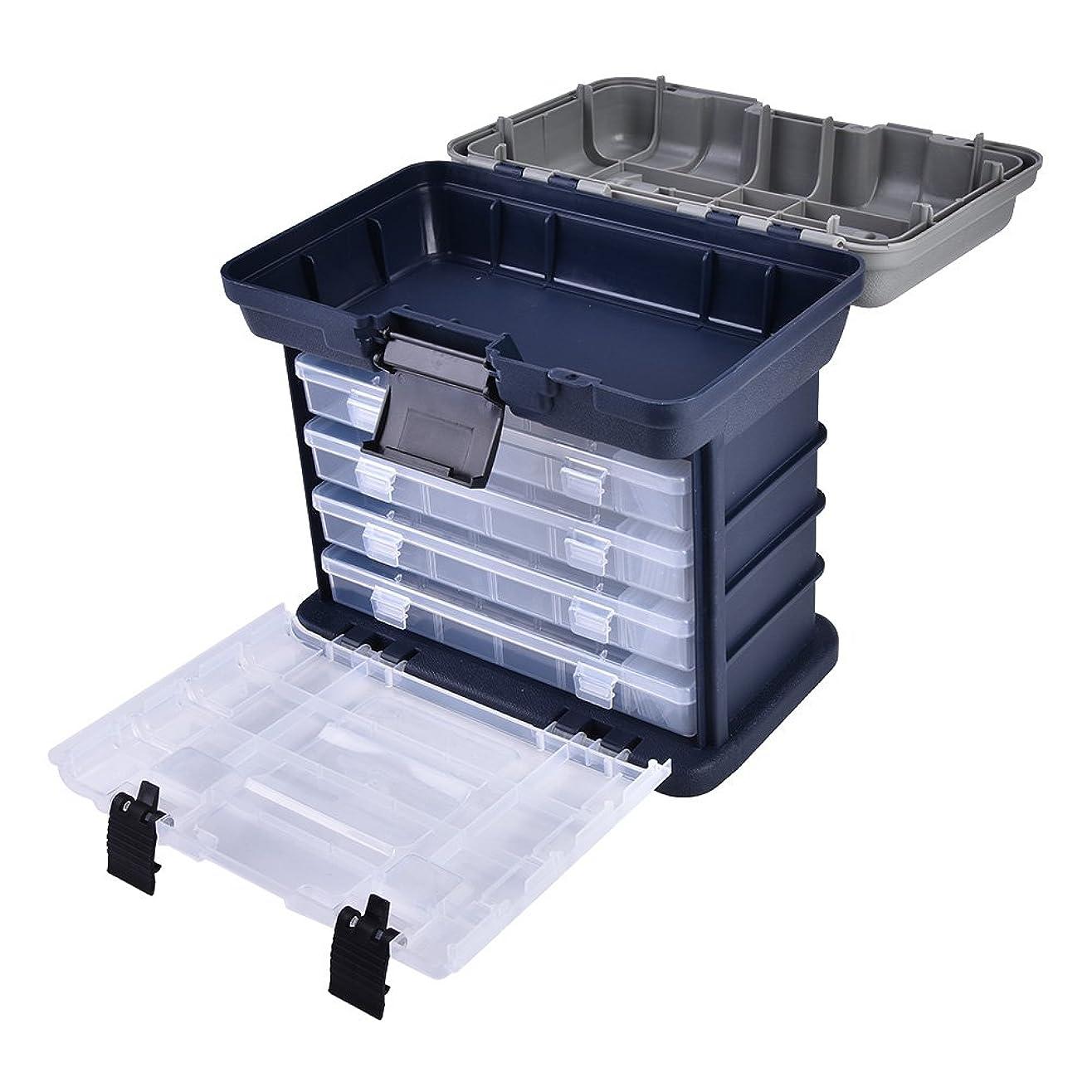 嘆くもう一度息子フィッシングボックス 収納ボックス ルアーケース 軽量 大容量 釣り具 釣り道具箱 釣りアクセサリー