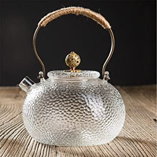 Handmade Kettle Glass Teapot Resistant to High Temperature Cold Kettle Health Pot 600ml