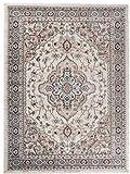 Grande Tapis d'Orient - BLANC BEIGE CRÈME - Motif Persan Traditionnel et Oriental -...