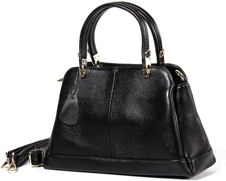 Ladies Handbag Ladies Leather Handbag Horizontal Section Package (color   A)