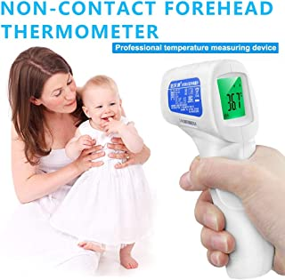 Multifuntional Infrared Thermometer, Body Baby Thermometer Hot Forehead Thermometer Non Contact Fever Digital Measure Tool for Baby Adult Color Alarm