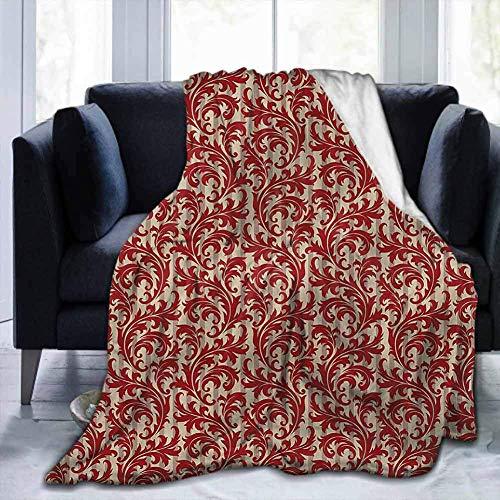 Decken Schal viktorianischen, sperrigen Blatt im Barockstil, für Schlafsofa Bett Büro Reisen Camping