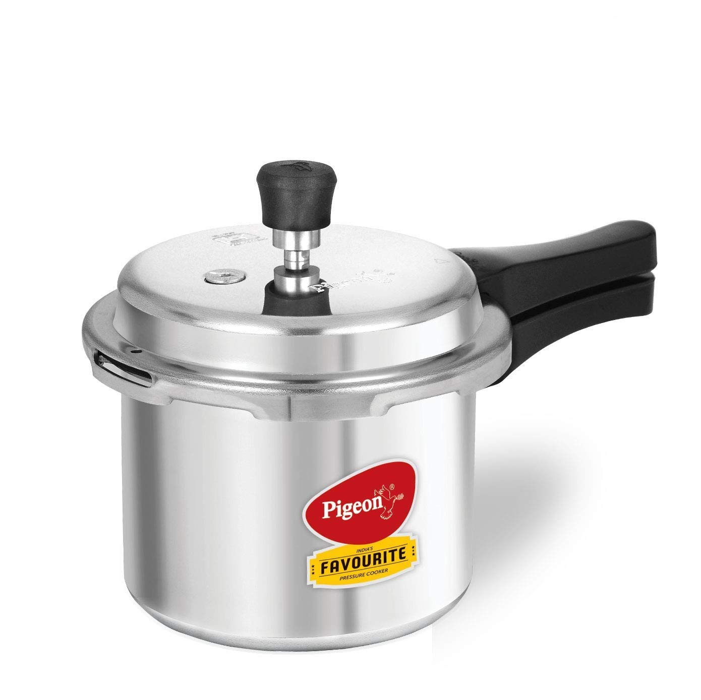 Pigeon 12007 Induction Base Outer Lid Aluminium Pressure Cooker, 3L, Silver