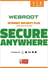 Webroot Internet Security Plus with Antivirus Protection – 2019 Software  | 3 Device | 1 Year Subscription | PC/Mac CD with Keycard