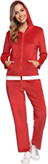 Abollria Women's Sweatsuit Set Zip Hoodie Sweatshirt & Sweatpants Long Sleeve Sportswear with Pocket