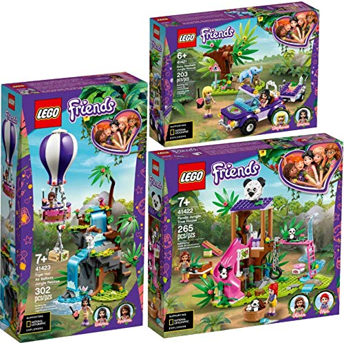 Lego® Friends 3er Set 41421 41422 41423 Rettung des Elefantenbabys + Panda-Rettungsstation + Tiger-Rettung