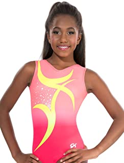 GK Gymnastics Leotards for Girls, Toddlers & Women Dancing Swirl (Peachy Pink) One Piece Athletic, Dance & Ballet Leotard | Kids Costumes & Dancewear Apparel