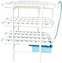 LAPOND Hydroponic Grow Kit,3 Layers 108 Plant Sites PVC Pipe Hydroponics 12 Pipes Hydroponics Growing System with Water Pu...