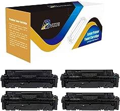 AB Volts Compatible No Chip Toner Cartridge Replacement for HP 414A W2020A W2021A W2022A W2023A for Color Laserjet Pro M454 Series Color Laserjet Pro MFP M479 Series (Black,Cyan,Magenta,Yellow,4-Pack