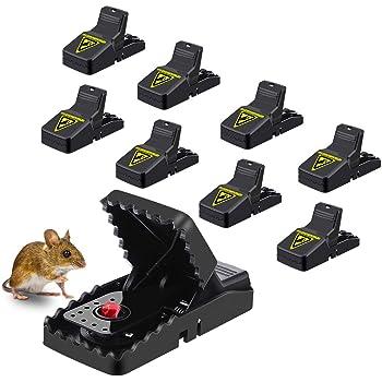 MOHOO 8PCS Piège à Souris Piège à Rat Réutilisable Tapette à Rat Efficace Piège à Souris Piège à Rats avec Puissant et Sensible Contrôle Faciles à Utiliser