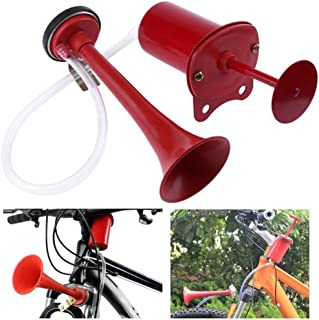 2.2inch Bicycle Air Horn Bugle Bulb Cycling Bicycle Hooter Bicycle Bugle Ring Bell Starbun Bicycle Bell Color : Black