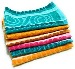 Cotton Hand Towel 300 GSM (Set of 6, Multicolour)  Bathroom Towel Absorbent Small Towels for Hand,Face,Kitchen and Bath