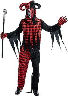 ReneeCho Adult's Jester Clown Halloween Costume Men Twisted Evil Mask Women Skeleton Skull
