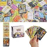YNK 324 Pcs Pokemon Cartes, Flash Card, Cartes à Collectionner Pokemon GX, Sun & Moo Series Jeux de Cartes pour Collections de Cadeaux, Jeux de Société (Color1-A)