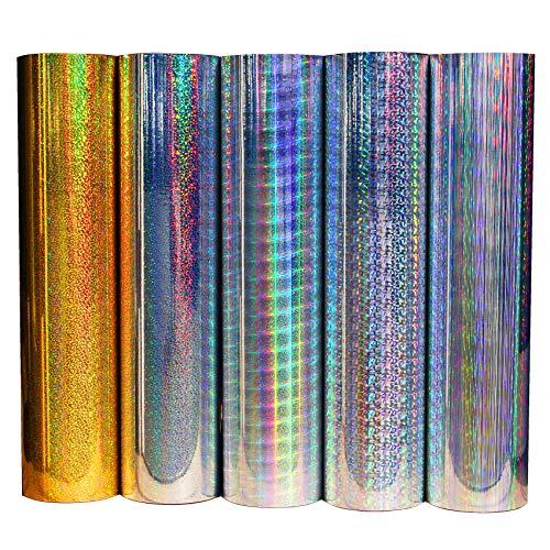 (10,94/m²) Bastelfolie Selbstklebend Künstlerfolie Aufkleber Plotterfolie Hologramm Oilslick Glitzer Folie Aufkleber Plottfolie (Delta, 61cm Breite)