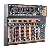 ammoon Portátil 7 Canales Línea Mic Mezclador de Audio Mesa de Mezclas Ecualizador de 3 Bandas...