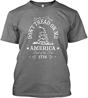 Don't Tread on Me. Liberty or Death. T-Shirt - Made in USA.