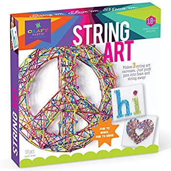 Craft-tastic DIY String Art – Award-Winning Craft Kit for Kids – Everything Included for 3 Fun Arts & Crafts Projects – Peace Sign Series