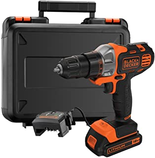 Black+Decker 18V 1.5Ah 10mm Li-Ion Cordless Multi-Evo Multitool Starter Kit with Drill Driver Head for Home, Office & Work...