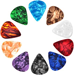 30 Pcs Guitar Picks Variety, Colroful Premium Celluloid Picks for Acoustic Electric Guitars Bass or Ukulele,with Different...