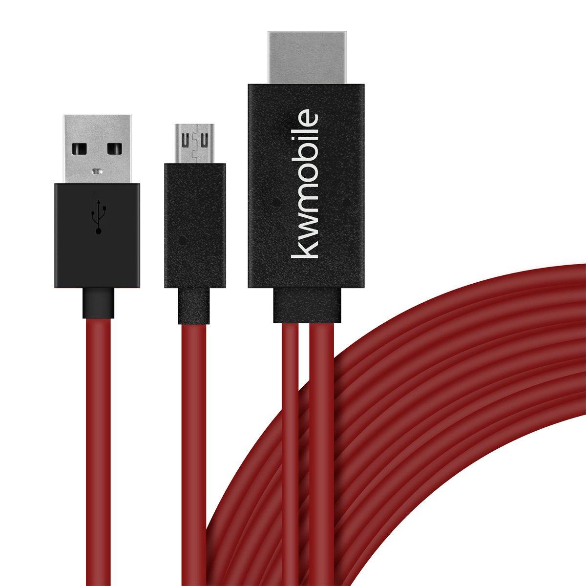 kwmobile Cable Adaptador MHL 1.8 M: Amazon.es: Electrónica