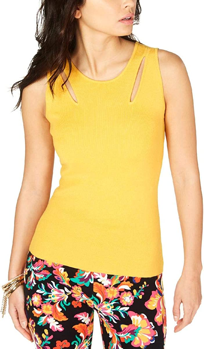 Thalia Sodi Women Size Tank Top Yellow XL Quantity limited Inventory cleanup selling sale