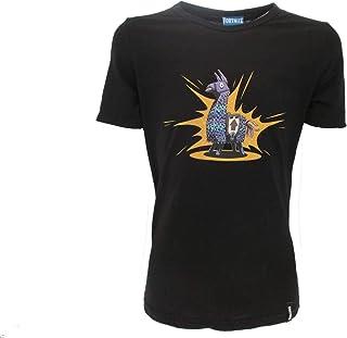 Epic Games Camiseta original Fortnite para niño con hoja de hoja, color negro